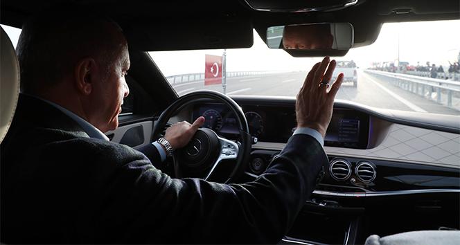 Cumhurbaşkanı Erdoğan, Kuzey Marmara Otoyolu Kınalı-Odayeri Kesiminde test sürüşü gerçekleştirdi