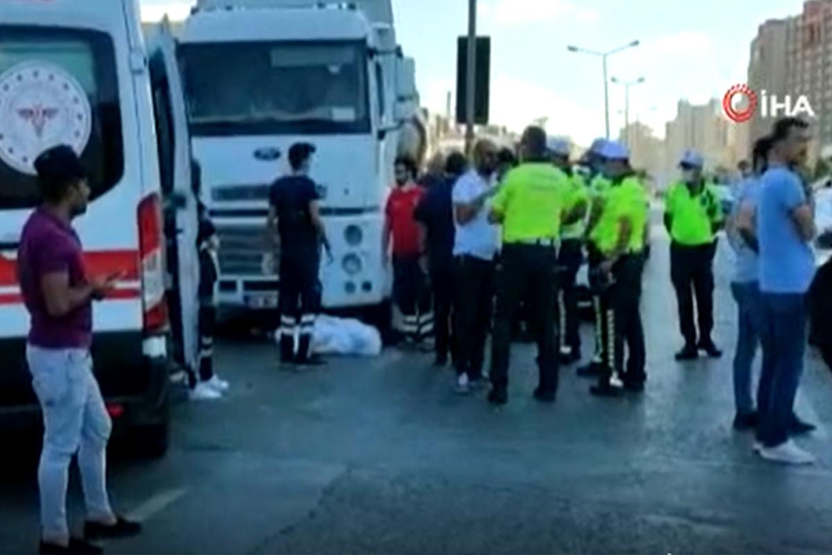 Büyükçekmece'de feci kaza, hafriyat kamyonun çarptığı yaşlı adam öldü
