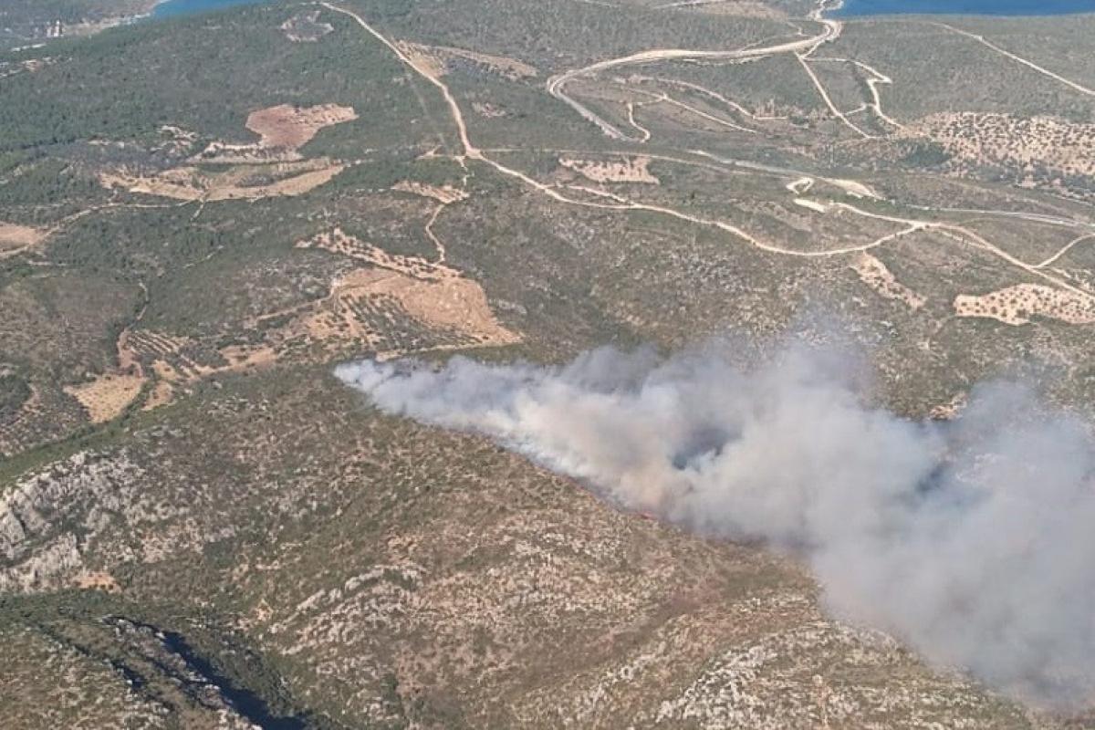 İzmir'de iki ayrı bölgede orman yangını: Havadan ve karadan müdahale başladı